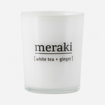 MERAKI SCENTED CANDLE WHITE TEA + GINGER